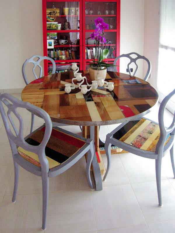 tavolo tondo allungabile di legno