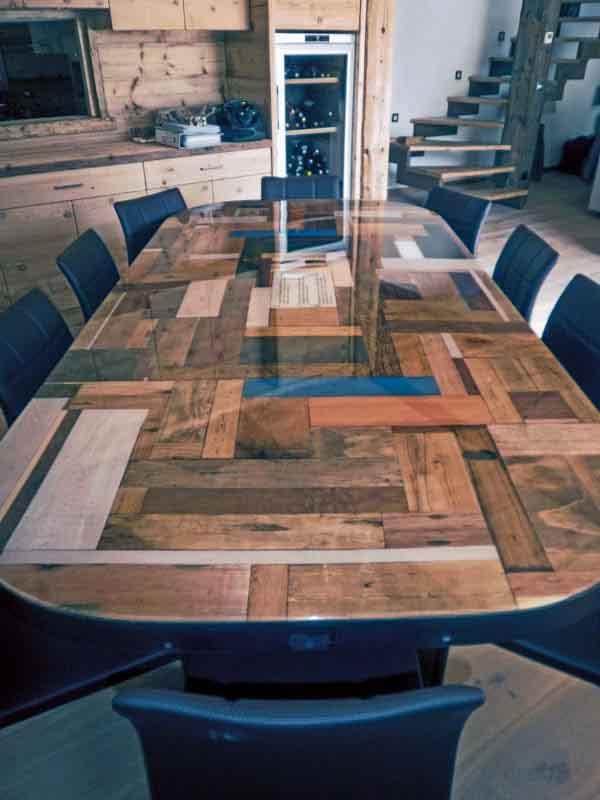 tavolo resinato