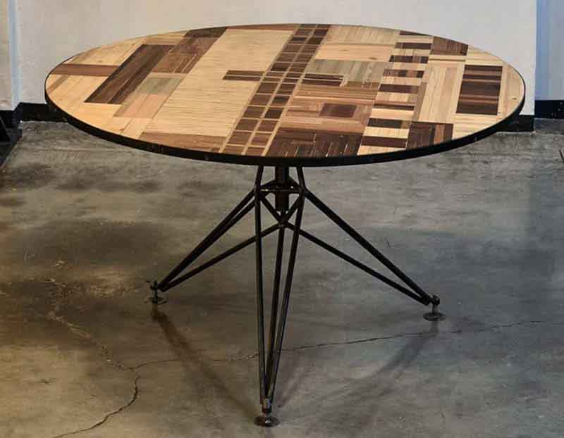 handmade table with scrapwood