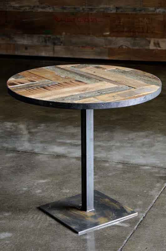 tavolo bistrot ferro e legno