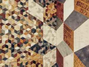 rivestimento parete rombi di legno