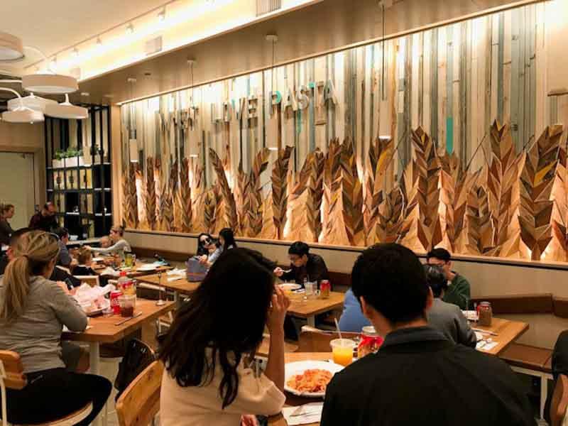 parete ristorante Barilla in California