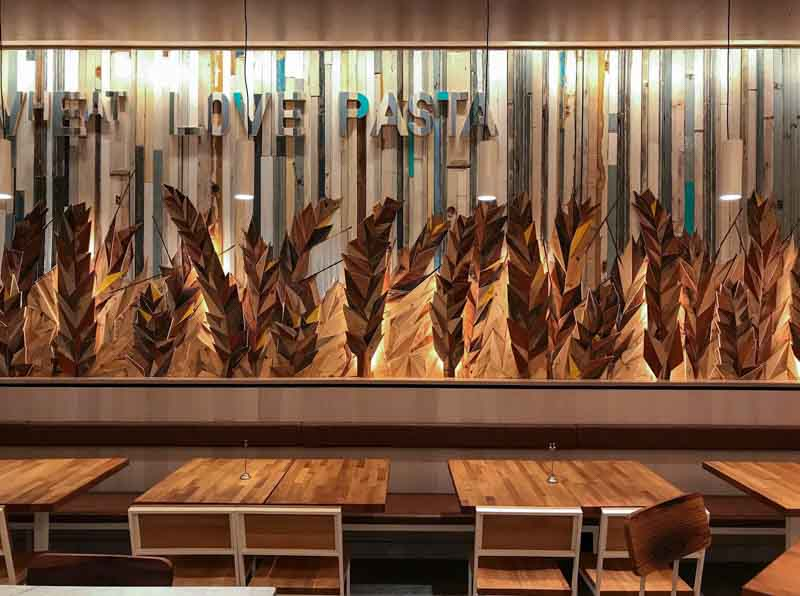 rivestimento parete artistico Wheat Wall Barilla California