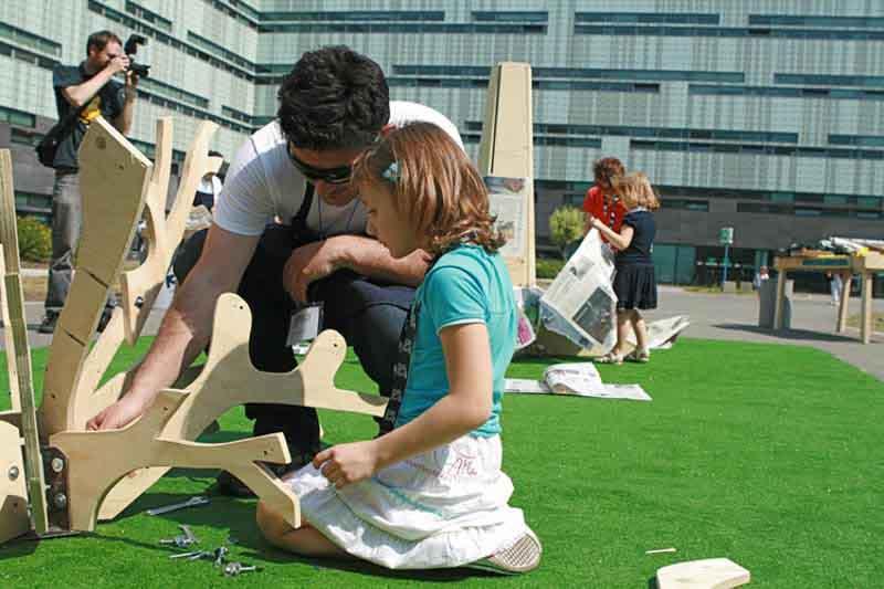 costruzione partecipata con bambini