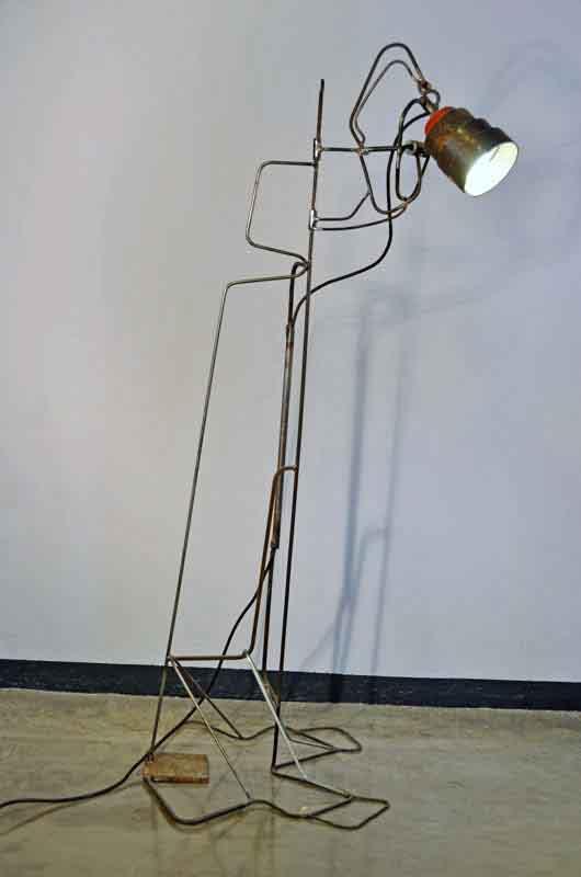 lampada da terra fatta a mano pezzo unico