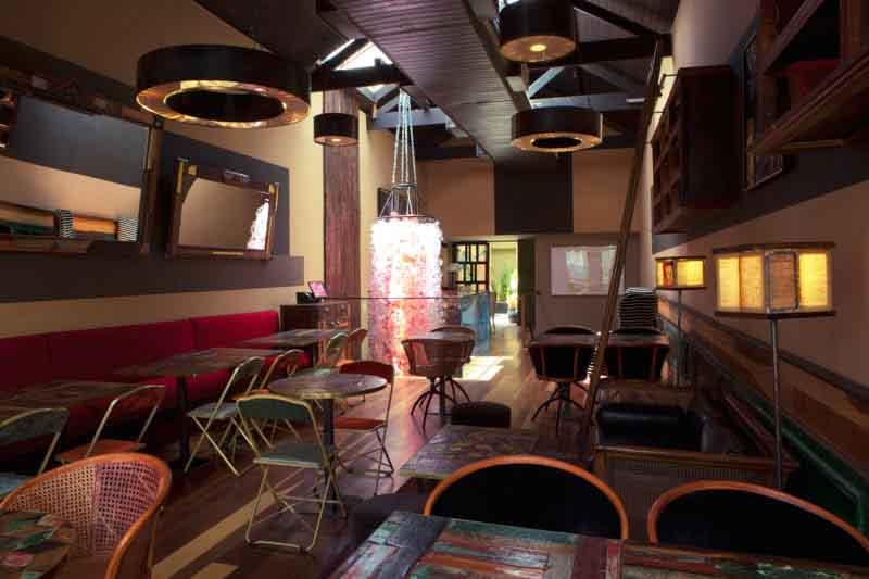 interni ristorante Casa Momus Brasile