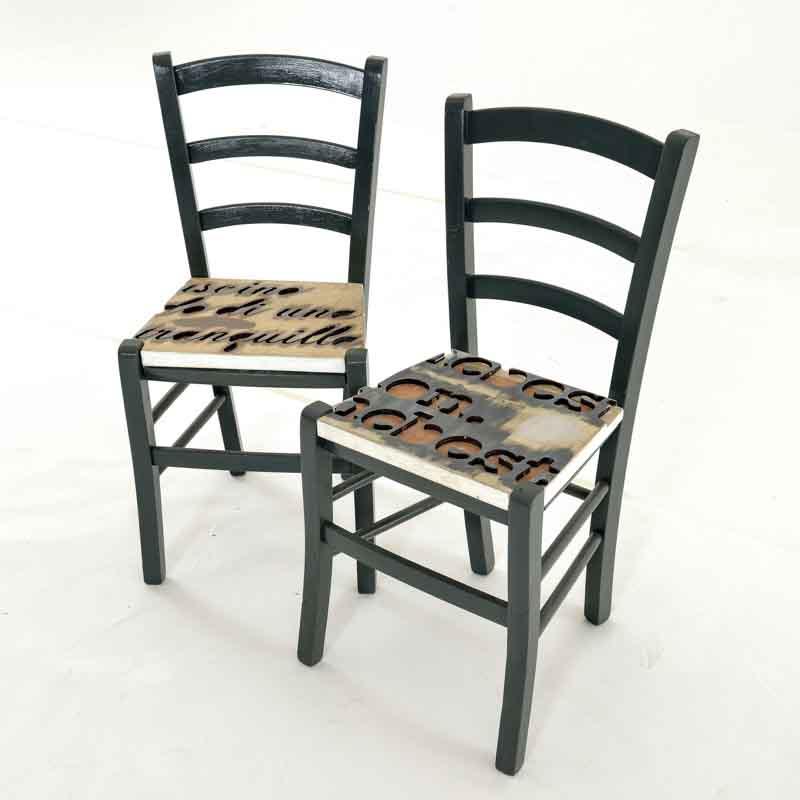 sedie artigianali vintage