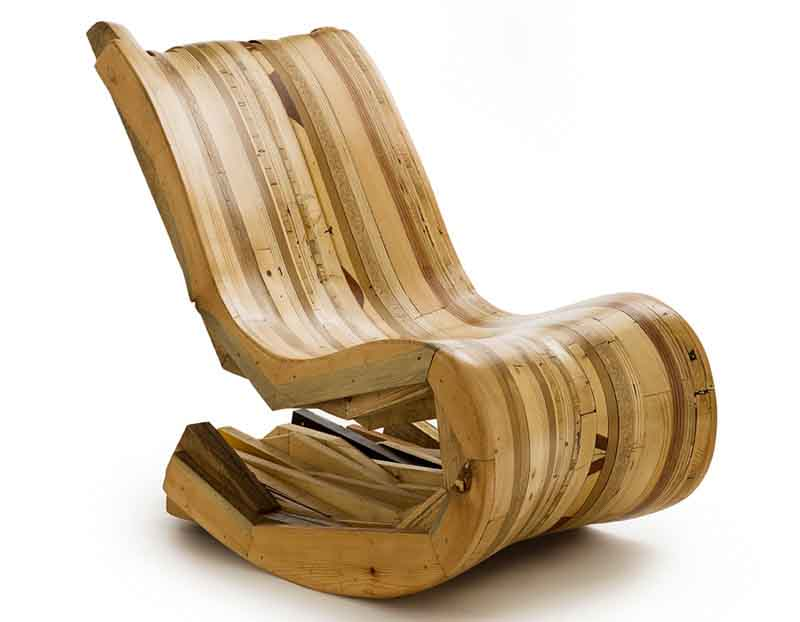 poltrona di legno