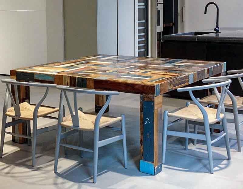 tavolo legno di recupero Custhome Bergamo