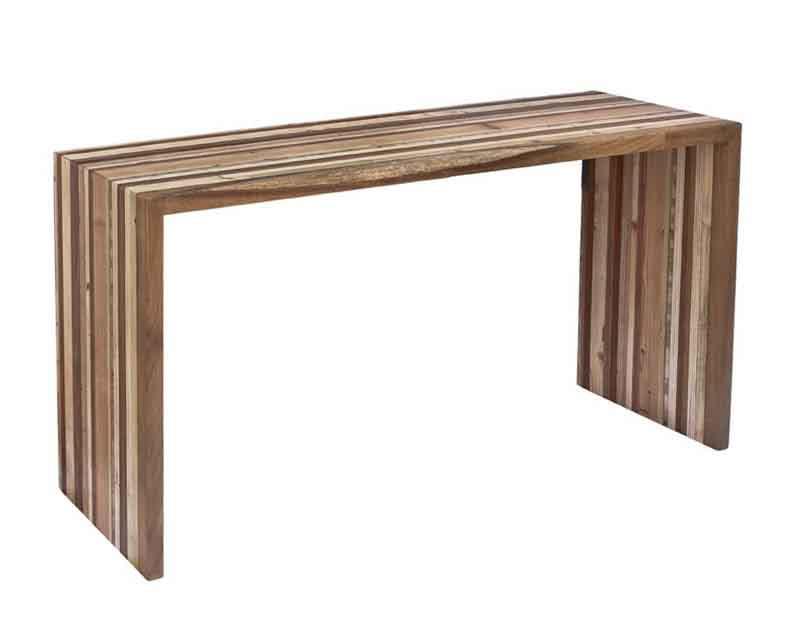 consolle fatta a mano di legni diversi