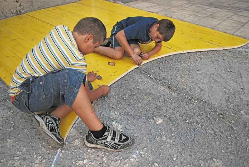 lavorare il legno con i bambini