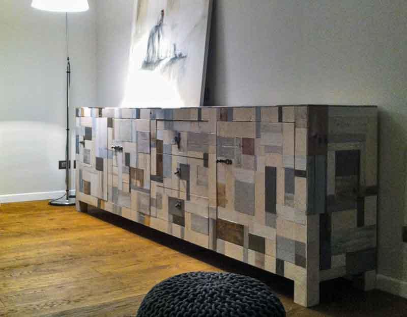credenza artigianale legno riciclato