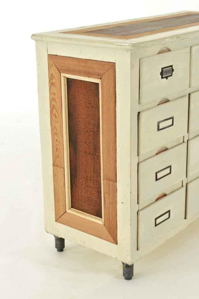 mobile artigianale legno e ferro arrugginito