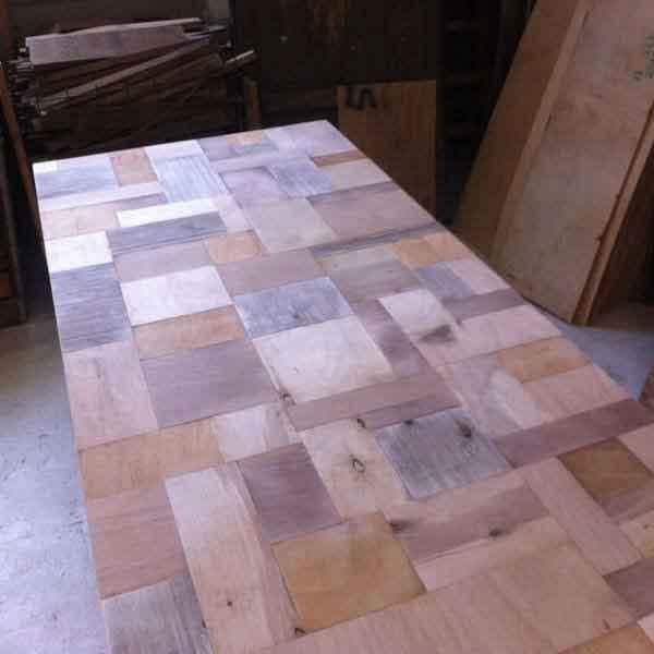 ripiano tavolo di legno fatto a mano