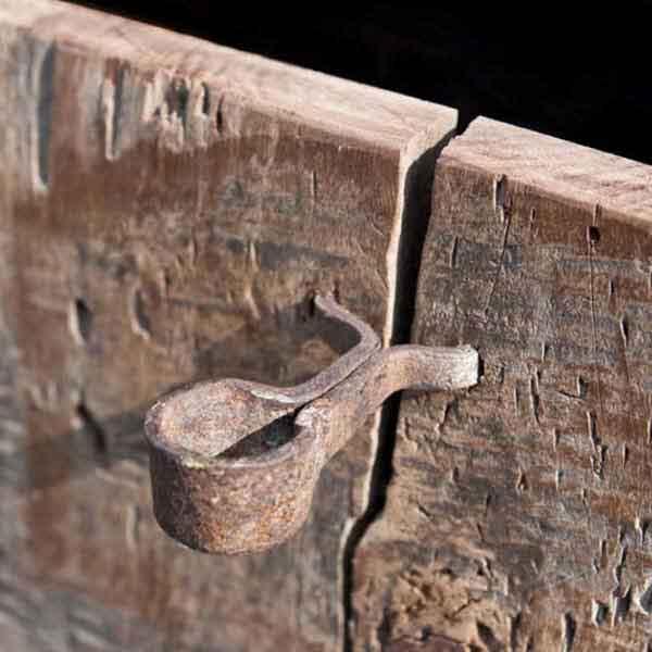 vecchio cassetto di legno