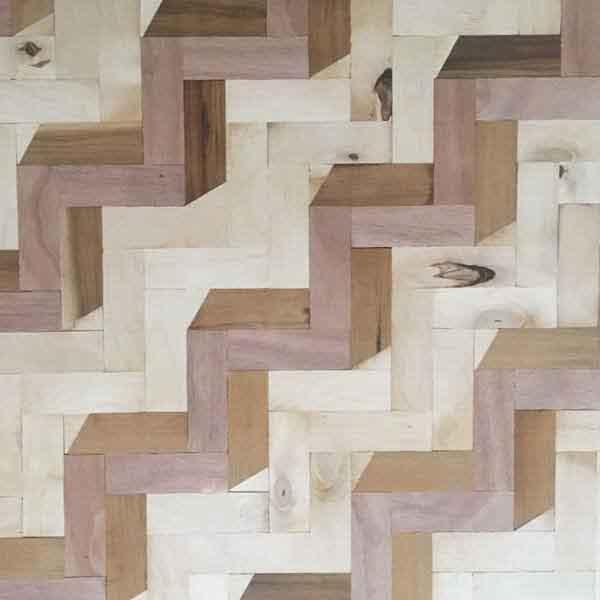mosaico legni riciclati zig zag