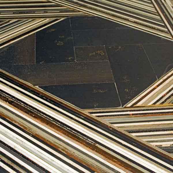 centrotavola di ferro e legno