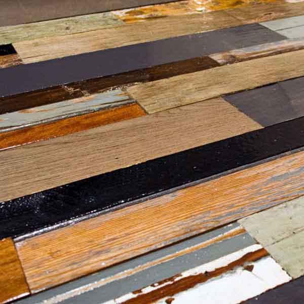 legni diversi di riciclo