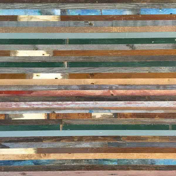 listelli legno recuperato colorato