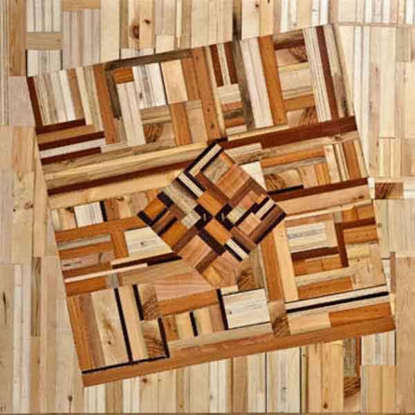mosaico di legno fatto a mano