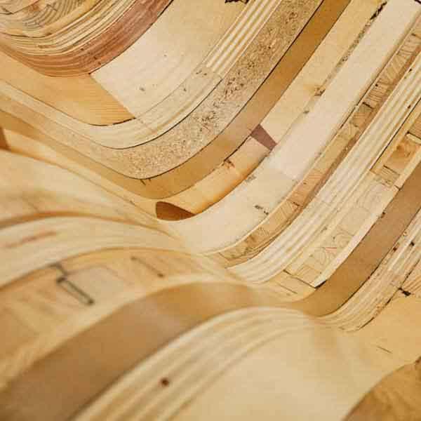 legno curvo liscio