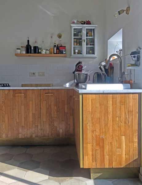 cucina rovere e ottone